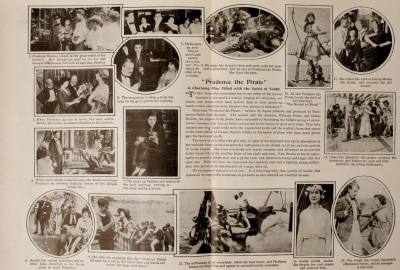Film Fun, (two-page fold-out of various scenes) December, 1916