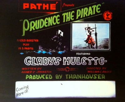 Prudence the Pirate Glass Slide, from the Thanhouser Company Preservation, Inc., Image Gallery
