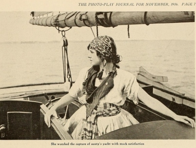 The Photo-Play Journal, watching the capture of aunty's yacht November, 1916
