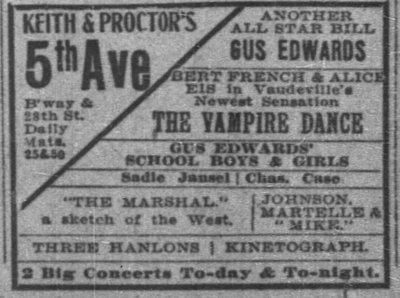 New York Times, New York, New York, July 25, 1909