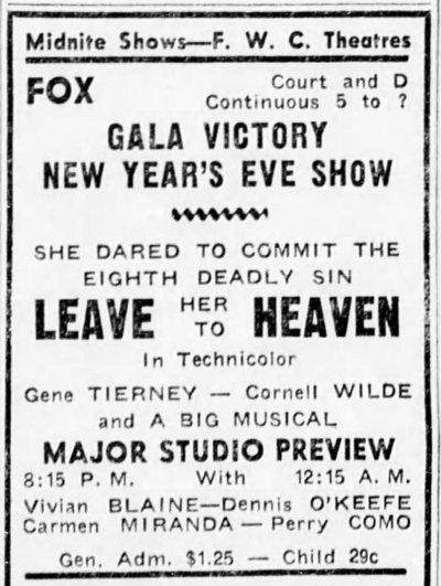 San Bernardino County Sun, San Bernardino, California, December 31, 1945