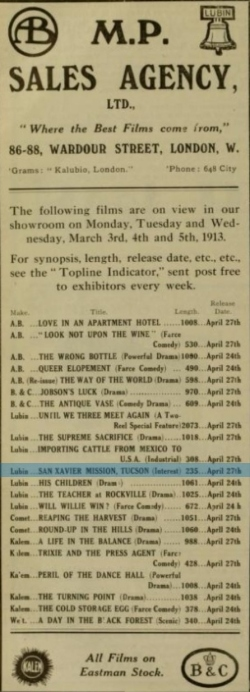 Cinema News and Property Gazette, March 5, 1913