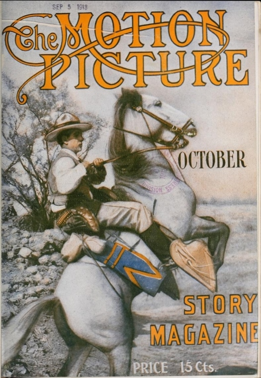 Cover Design with Romaine Fielding, Motion Picture Story Magazine, October, 1913