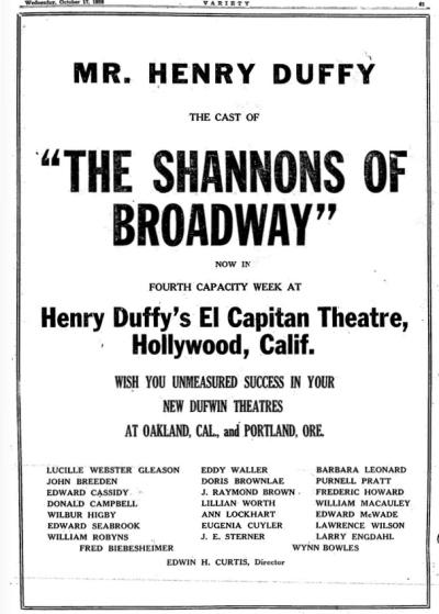 Variety, October, 17, 1928