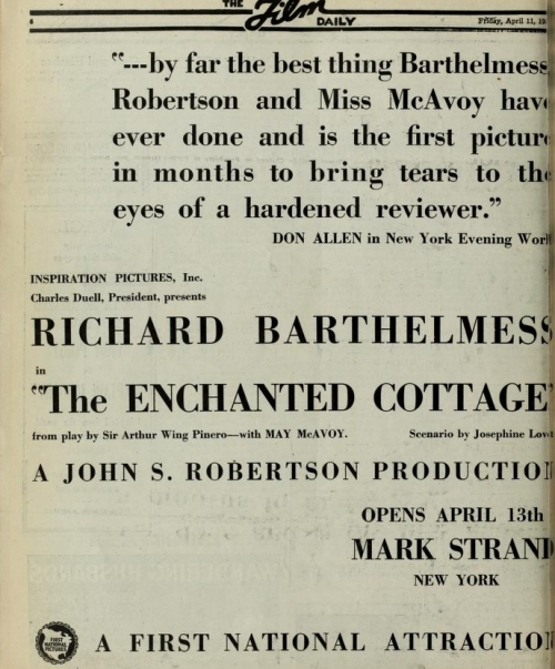 Film Daily, April 11, 1924