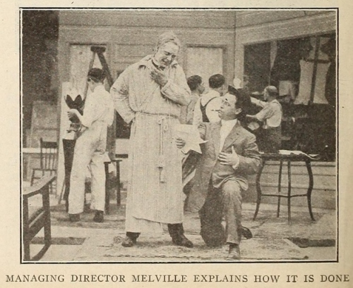 Melville on bended knee; Moving Picture News , June 17, 1911