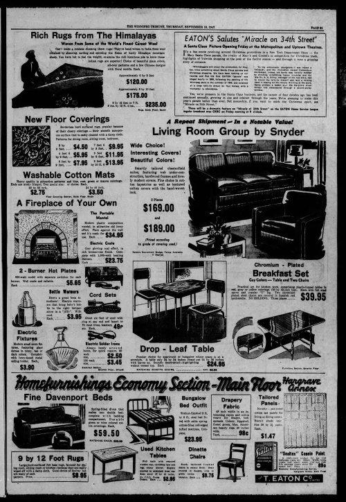 Winnipeg Tribune, Winniped, Manitoba, Canada, September 18, 1947