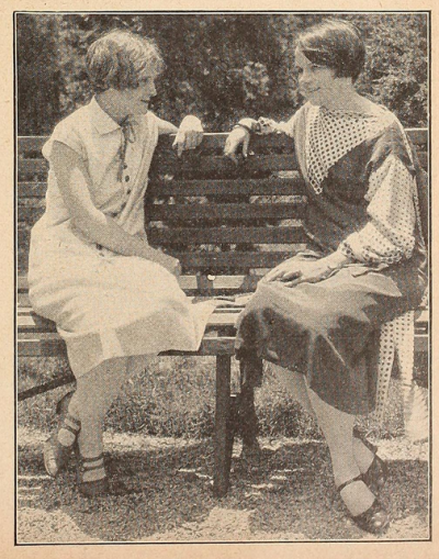 Agnes Johnston at left, Isabel Johnston to the right; Picture-Play Magazine, Johnston Sisters, November, 1925