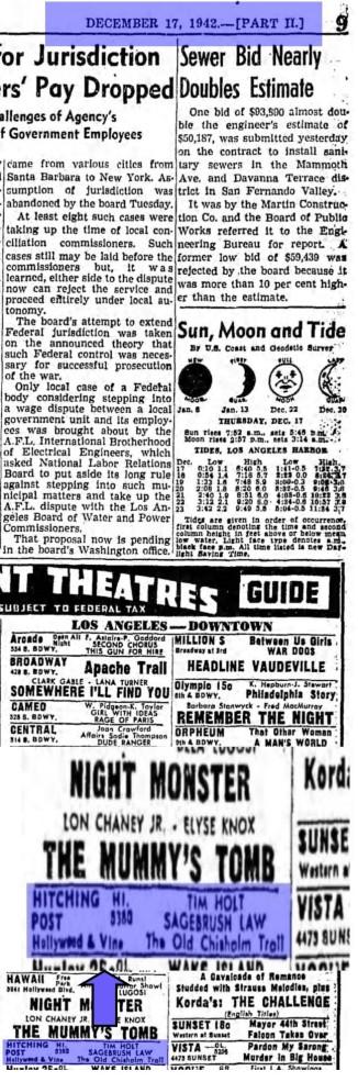 Los Angeles Times, December 17,1942